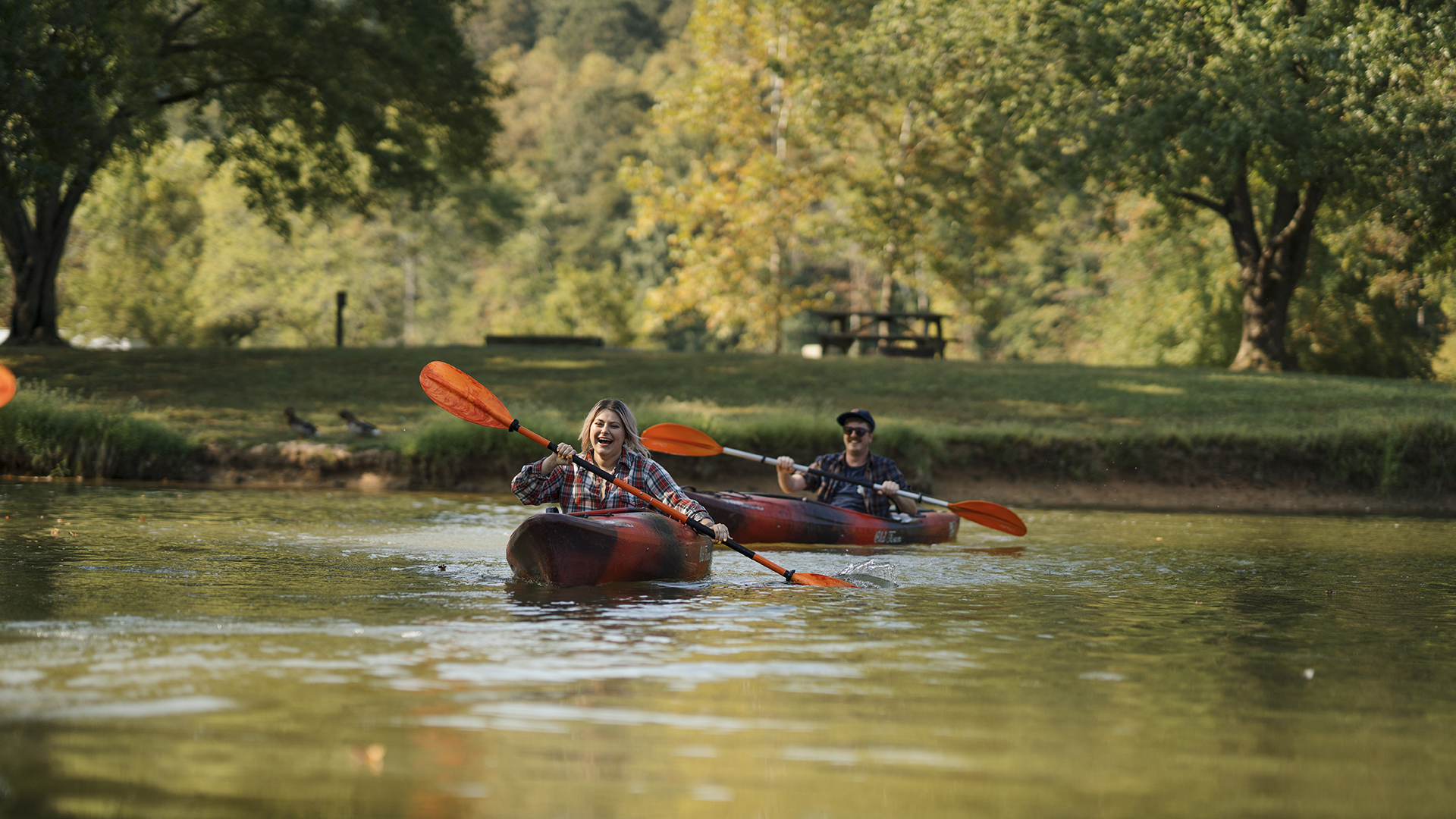 Beech Fork State Park Kayakers